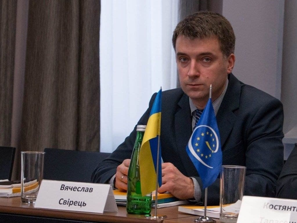 Учасник круглого столу, директор Експертного центру з прав людини В'ячеслав Свірець