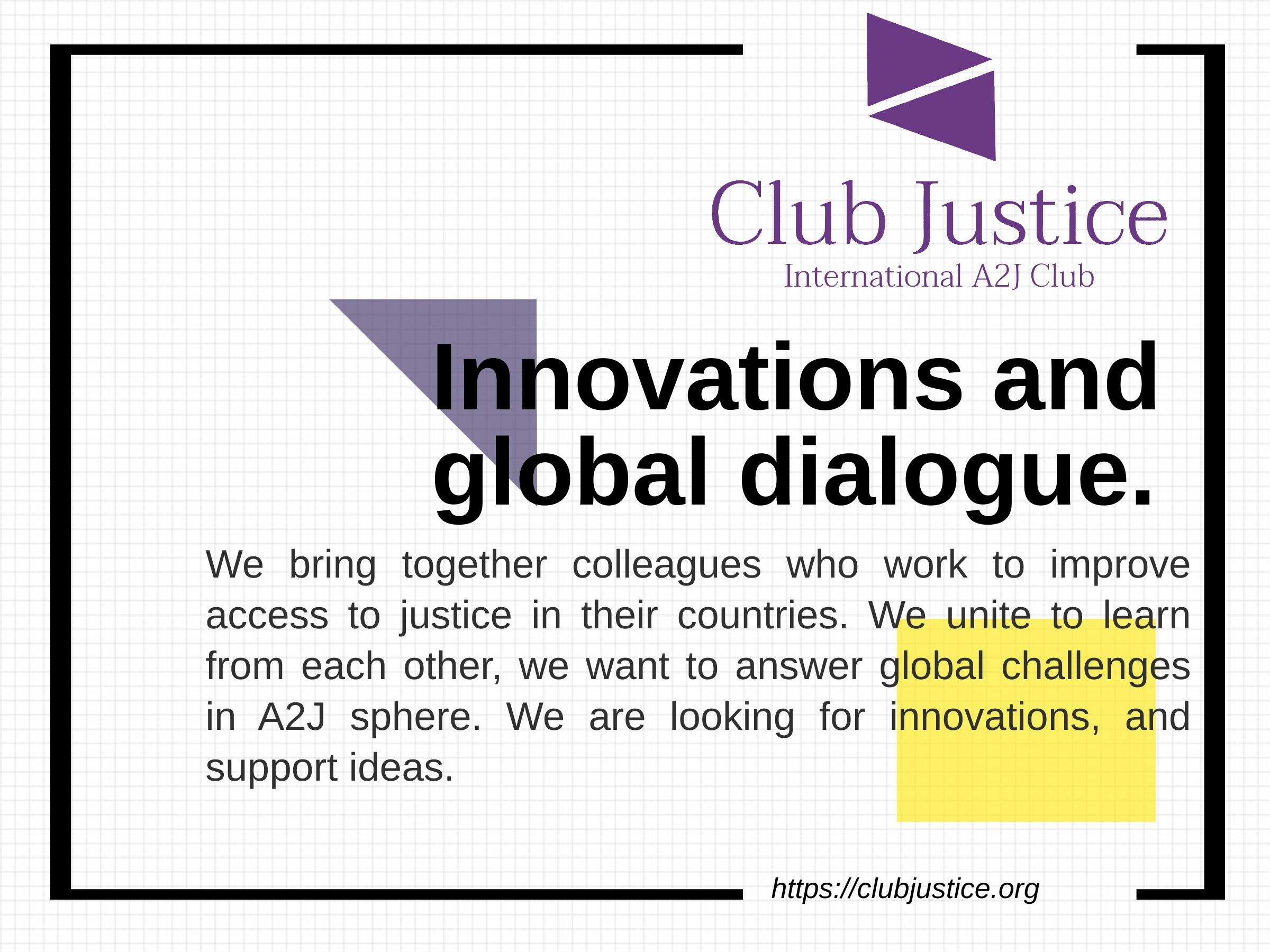 Фундація приєдналась до Міжнародного клубу інноваторов в сфері доступу до правосуддя